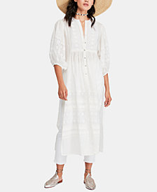 Free People June Bug Cotton Embroidered Tunic