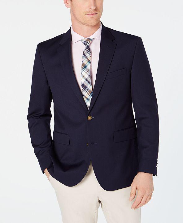 Dockers Men's Modern-Fit Stretch Navy Textured Blazer
