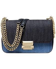 MICHAEL Michael Kors Sloan Denim Chain Small Shoulder Bag, Created for Macy's