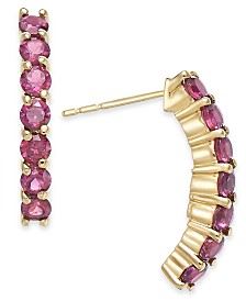 Rhodolite Garnet (1-3/8 ct. t.w.) Drop Earrings in 14k Gold