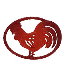 "Chasseur French Rooster Enameled Cast Iron 11"" Trivet"