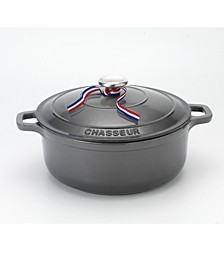 French Enameled Cast Iron 3.25 Qt. Round Dutch Oven