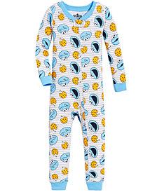 Sesame Street Toddler Boys Cookie Monster Cotton Pajamas
