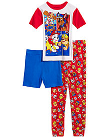 PAW Patrol Little & Big Boys 3-Pc. PAW Patrol Cotton Pajama Set