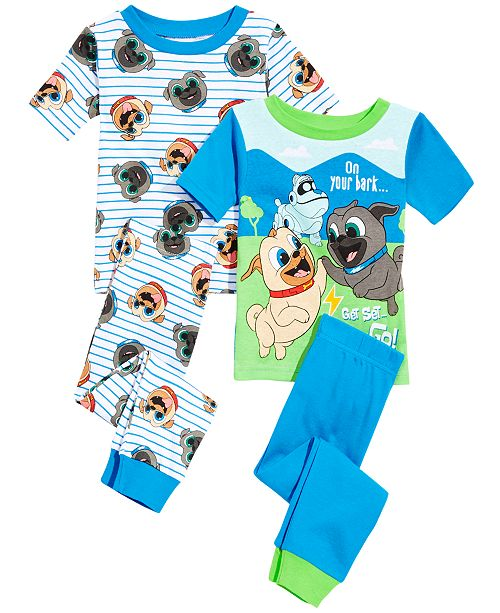 aa894ceb5 Disney Toddler Boys 4-Pc. Puppy Dog Pals Cotton Pajama Set   Reviews ...
