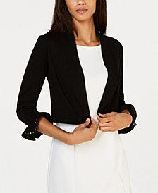 Calvin Klein Studded Bell-Sleeve Shrug