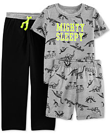 Carter's Little Boys 3-Pc. Mighty Sleepy Pajamas Set