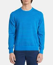 Calvin Klein Men's Logo Graphic Stripe Sweatshirt
