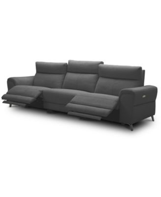 "Raymere 119"" 3-Pc. Fabric Sofa with 2 Power Motion & Power Headrests"