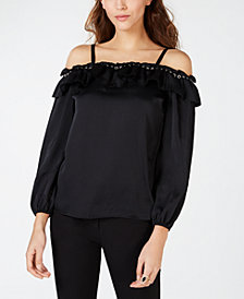 I.N.C. Grommet-Trim Off-The-Shoulder Top, Created for Macy's