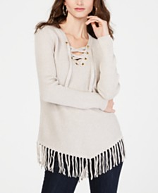 I.N.C. Fringe-Trim Sweater, Created for Macy's