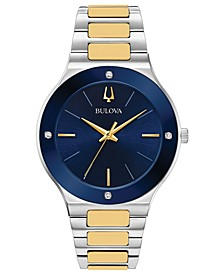 Men's Futuro Diamond-Accent Two-Tone Stainless Steel Bracelet Watch 43mm