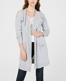 I.N.C. Draped Open-Front Cardigan, Created for Macy's
