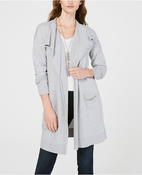 INC International Concepts I.N.C. Draped Open-Front Cardigan, Created for Macy's
