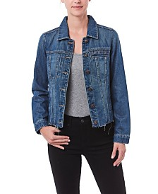 Nicole Miller New York Denim Jacket with Raw Hem