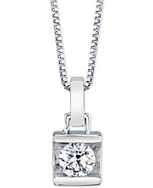 "Diamond Bar 18"" Pendant Necklace (1/2 ct. t.w.)"