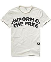 0e42feade3e G-Star RAW Men's Uniform Of The Free Graphic T-Shirt