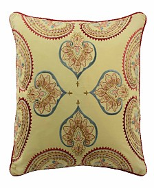 Waverly Swept Away 18 inch Embroidered Decorative Pillow