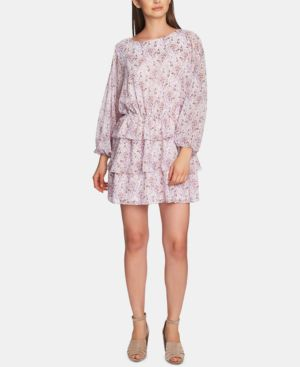 Image of 1.state Bloomsbury-Floral Ruffle-Skirt Dress