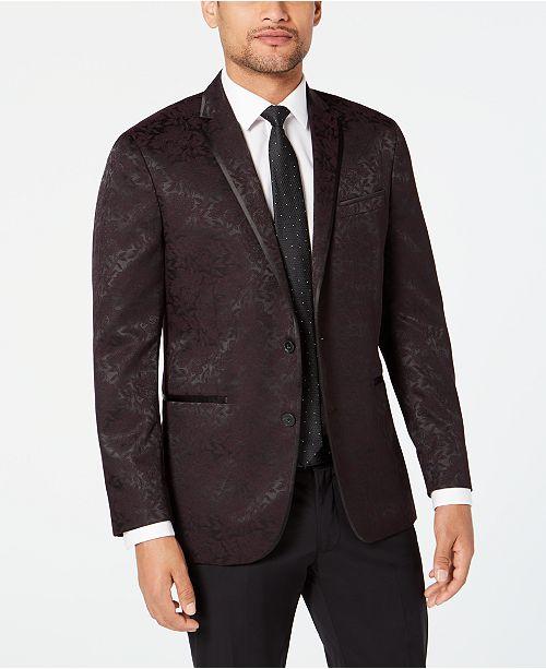 Kenneth Cole Reaction Men's Slim-Fit Tonal Floral Evening Jacket