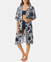86871e8cd3 Vince Camuto Cotton Printed Kimono Cover-Up