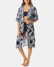 Vince Camuto Cotton Printed Kimono Cover-Up