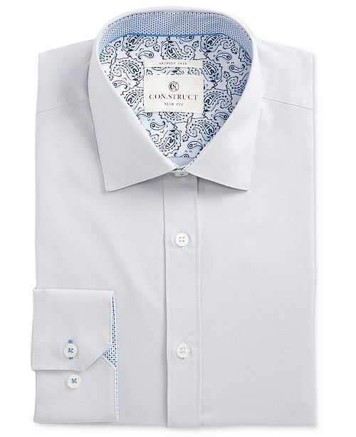 ConStruct Con.Struct Mens Slim-Fit Performance Stretch Solid Dress Shirt