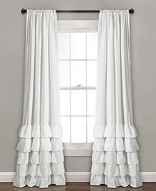 """Allison Ruffle Window Curtain Panels Set, 84"""" x 40"""""""