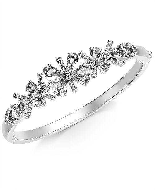Eliot Danori Multi-Crystal Flower Bangle Bracelet, Created for Macy's