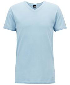 BOSS Men's Regular/Classic Fit V-Neck Cotton T-Shirt