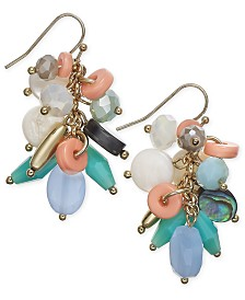 I.N.C. Gold-Tone Shaky Bead Cluster Drop Earrings, Created for Macy's