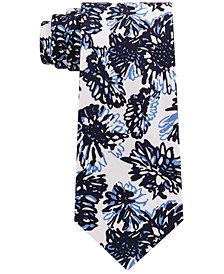 Sean John Men's Graphic Tropicana Print Silk Tie