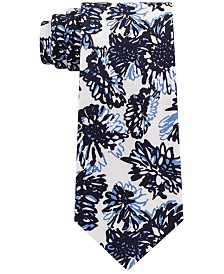 Sean John Men's Graphic Tropicana Print Silk Tie