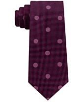d7666a74c09f Sean John Men's Checkered Textured Dot Silk Tie