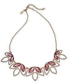 """I.N.C. Crystal & Stone Statement Necklace, 18"""" + 3"""" extender, Created for Macy's"""