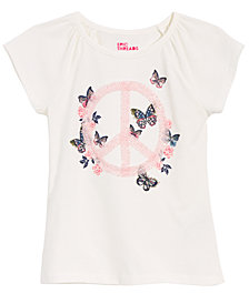 Epic Threads Little Girls Peace Sign Butterfly T-Shirt, Created for Macy's