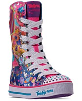 1725ceac3f0c Skechers Little Girls  Twinkle Toes  Twinkle Lite - Pocket Party Super High  Top Casual
