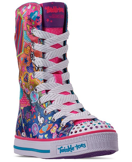 bc52c61dbf5 ... Skechers Little Girls' Twinkle Toes: Twinkle Lite - Pocket Party Super  High Top Casual ...