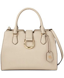Lauren Ralph Lauren Kenton Pebble Leather City Satchel
