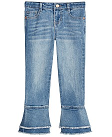 Epic Threads Little Girls Frayed Bell Bottom Jeans, Created for Macy's