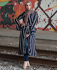Verona Collection Striped Shirtdress
