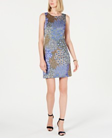 Pappagallo Printed Sleeveless Shift Dress