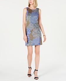 Pappagallo Printed Sleeveless Shift Dress