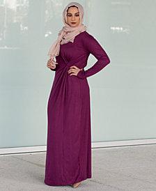 Verona Collection Knot-Front Maxi Dress