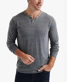 Lucky Brand Men's Colorblock Venice Burnout Henley