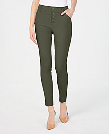 I.N.C. Button-Front Skinny Pants, Created for Macy's