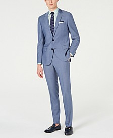 HUGO Men's Slim-Fit Pin-Dot Suit Separates