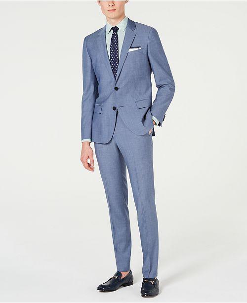 Hugo Boss HUGO Men's Slim-Fit Pin-Dot Suit Separates