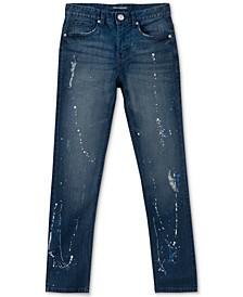 Big Boys Skinny-Fit Paint Splatter Jeans