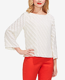 Vince Camuto Textured Boat-Neck Top